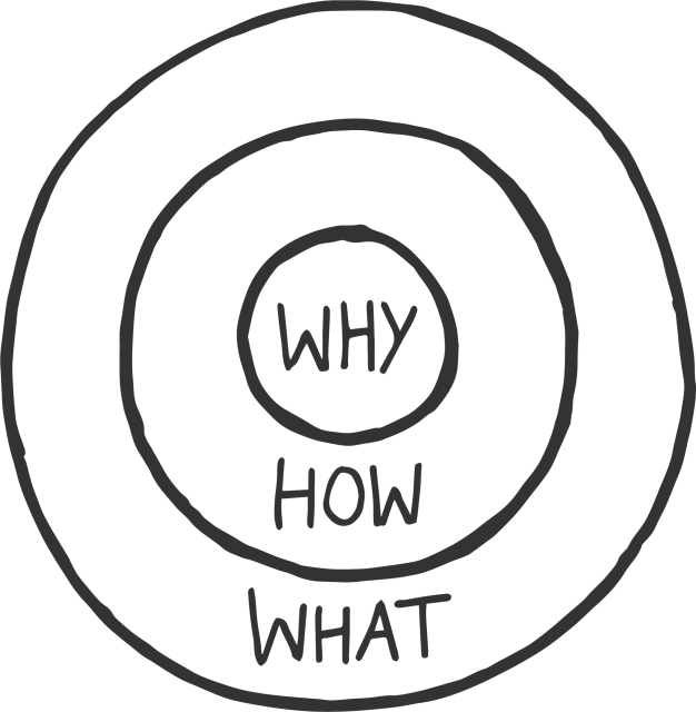 The golden circle: How, what, why