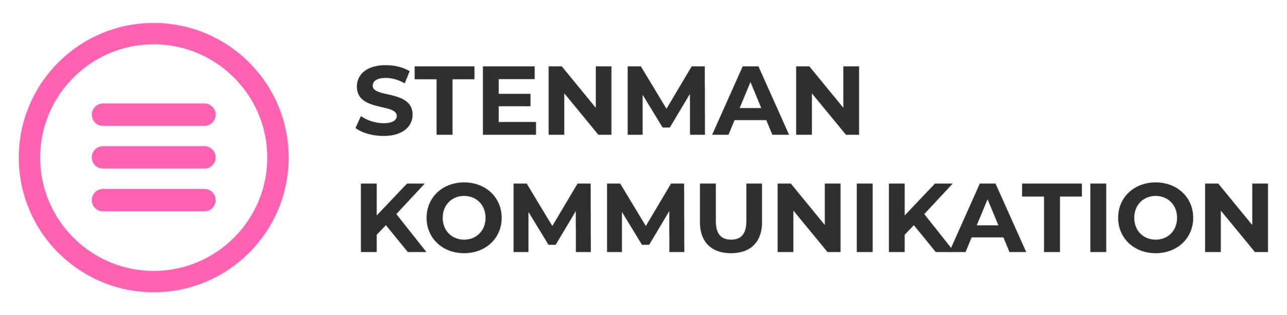 Logotyp Stenman kommunikation